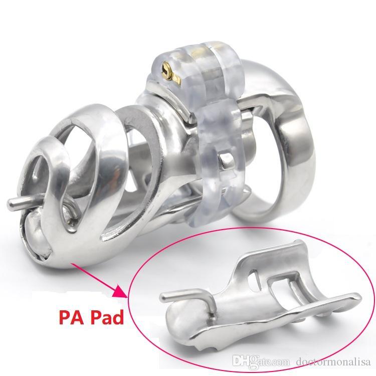 Доктор Мона Лиза - колючая Спайк кольцо и прокол PA Pad для нового прибытия мужской из нержавеющей стали целомудрие клетка пояса устройство бондаж SM игрушки