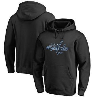 Squadra di hockey su ghiaccio Logo Fanatici Con cappuccio Big Tall Pond Hockey Pullover con cappuccio - Nero - tutte le squadre in stock