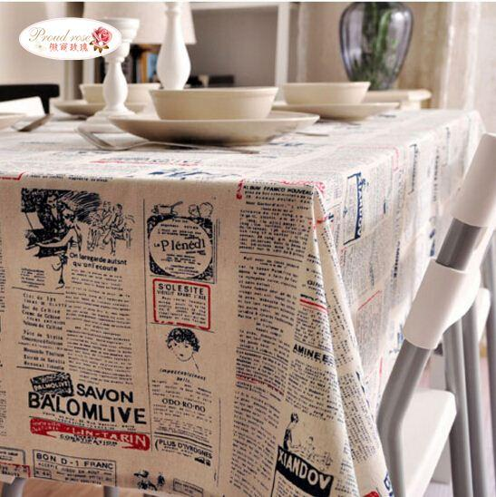 Creative Blue English Newspaper Linen Tablecloth/ Fashion Simple Tea Table  Cloth/ Modern Decorative Cover Towels Black Tablecloths Rectangular  Tablecloth ...