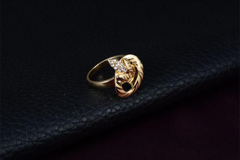 комплект ювелирных изделий 2016 Новая мода горный хрусталь партия ювелирных изделий женщин 18K позолоченные листья свадебные ювелирные наборы 4-х частей набор Оптовая JS079