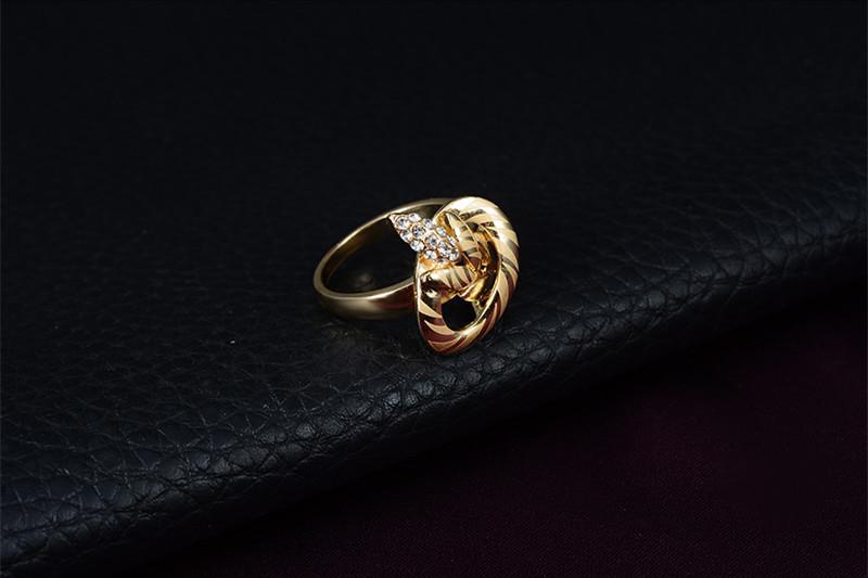 Schmucksache-Set 2016 neue Art und Weise Rhinestone-Partei-Schmucksache-Frauen 18K Gold überzogene Blätter, die Hochzeits-Schmucksache-Sätze 4-teiliges gesetztes Großhandels-JS079