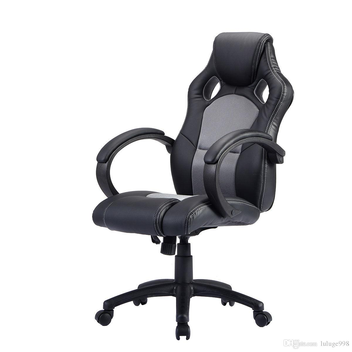 2018 High Back Race Car Style Bucket Seat Office Desk Chair Gaming Chair  Gray New From Luluge998, $65.33 | DHgate.Com