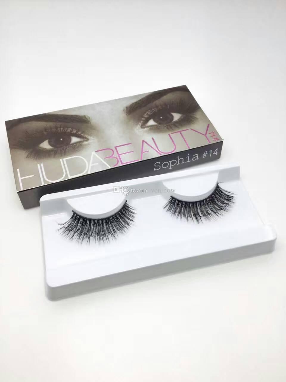 f87bdb69983 ... Huda Beauty False Eyelashes Messy Cross Thick Natural Fake Eye Lashes  Professional Makeup Tip Bigeye Long ...