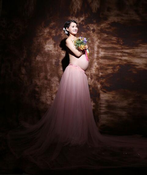 새로운 핫 Puseky 패션 출산 사진 소품 멋진 출산 드레스 임신 한 옷 맥시 쉬폰 드레스 사진 세션 드레스