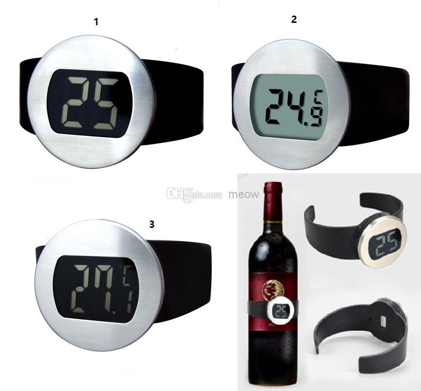 Großhandel Rotwein Flasche Thermometer Wein Uhr Celsius Fahrenheit ...