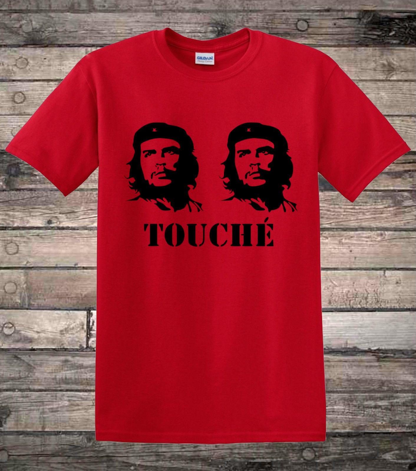 che guevara touche ironic retro political socialist t shirt