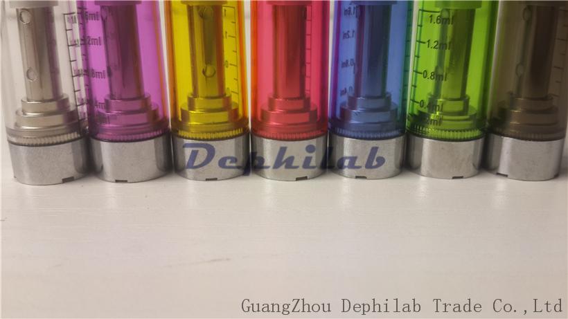 CE5 Clearomizer No Wick Cartridge Atualizado Ego CE4 Atomizadores 1.6ml E Cigarro 510 Pirex Tanque Para eGo-T Evod Bateria E-Cig Starter kits