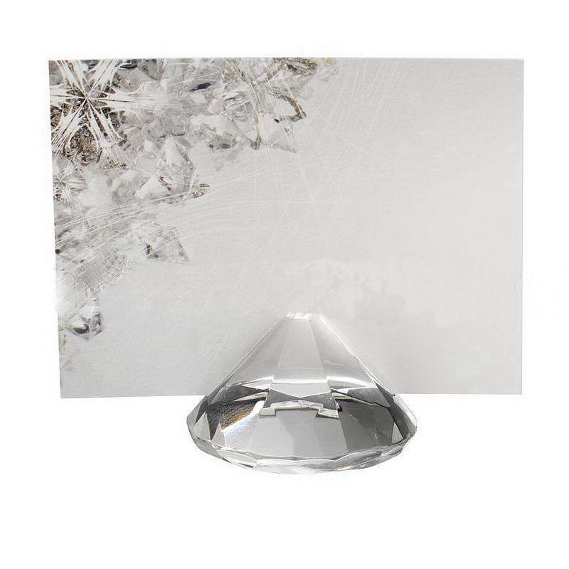 Diamentowy Kryształ Place Nazwa Uchwyt Karty Składana Klip Ślub Przyspieszenie i Party Table Decoration DHL Darmowa Wysyłka