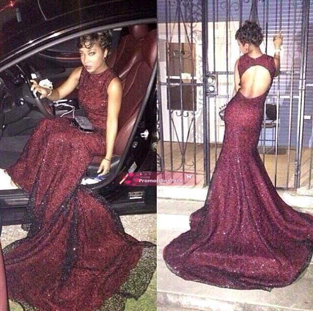 페스티벌 댄스 파티 드레스 2016 Cusotm Made Black Girl Dress 섹시한 부르고뉴 스팽킹 Fromal Evening Party 미인 대회