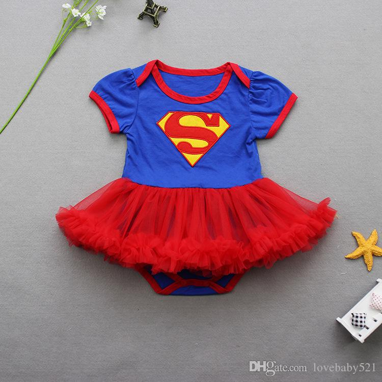 2018 New Baby Girls Cotton Cartoon Superwoman Rompers Headwear Cute Baby Jumpers Kids Happy Birthday Wear Infant Overalls 16j21 From Lovebaby521 ... & 2018 New Baby Girls Cotton Cartoon Superwoman Rompers Headwear Cute ...
