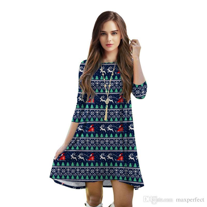 Großhandel Neue Frauen One Piece Rock Weihnachten Mode Kleidung ...