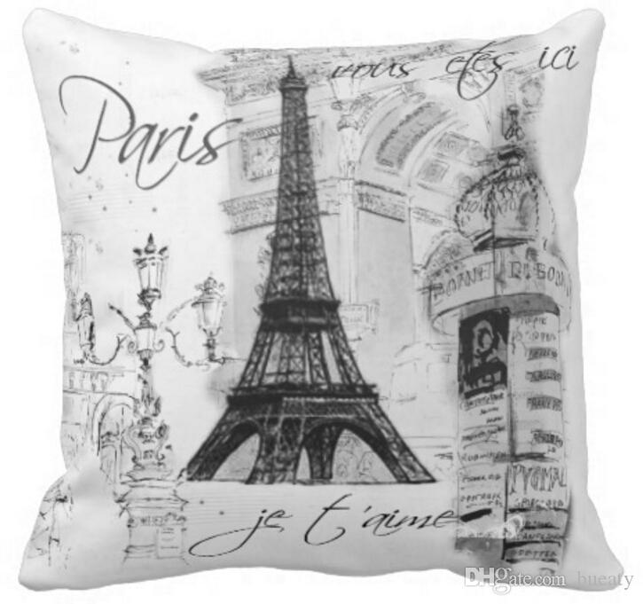 Paris Eiffel Tower Collage Black White Throw Pillow 50 Cotton And 50 Linen Material Color As Shown 16x16inch 18x18inch 20x20inch Outdoor Patio Furniture Cushions Outdoor Lounge Chair Cushions From Bueaty 9 35 Dhgate Com