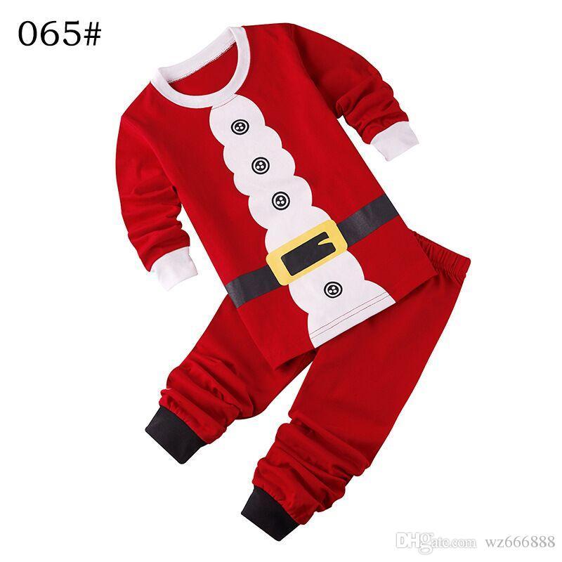 0106a76c10 New Arrival Winter Christmas Santa Claus Snowman Pajamas Set Kids 2 7 Yrs Boys  Girls Pijamas Set Children Pyjama 100% Cotton Kids Pajamas Christmas Cotton  ...
