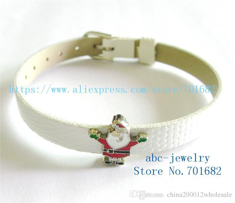 8mm Navidad de Santa Claus ventas al por mayor llavero precio Dia.8mm interna cinturón de ajuste de 8 mm pulsera SL430 pulsera collar de perro
