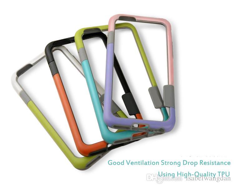 Anti-knock Colorful phone bumper For iphone 8 5 5s 6 6s 7 se 6 6s 7 plus 6plus 6splus 7plus Accessories case