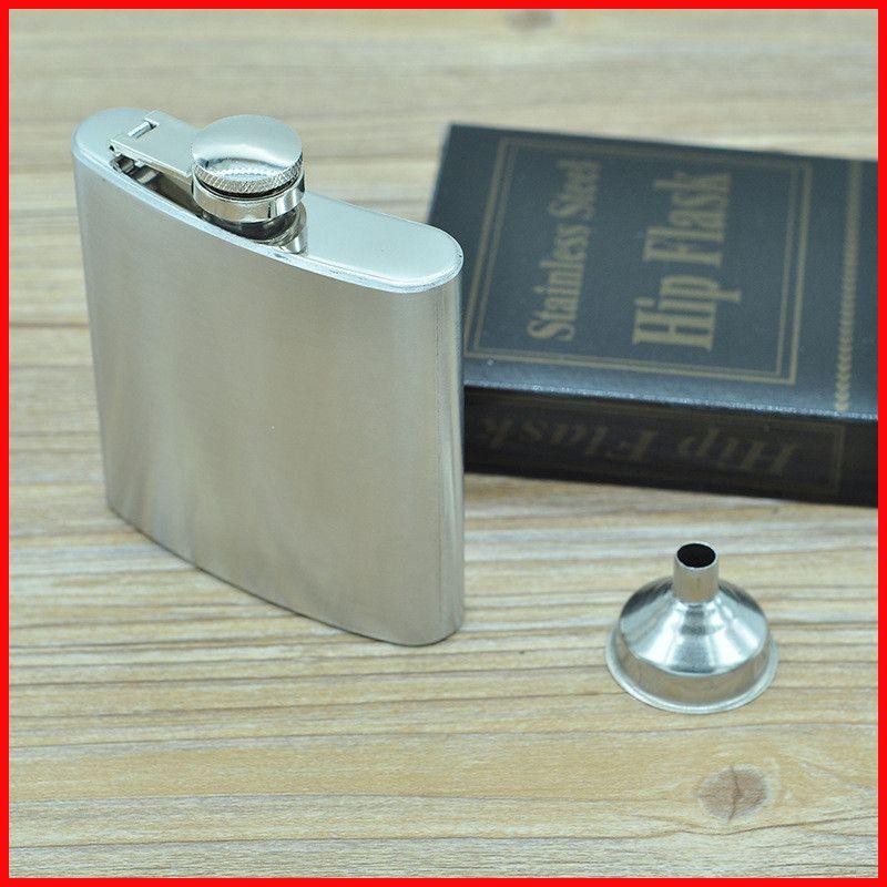 Huni ile 6 oz Paslanmaz Çelik cep Cep Şişesi taşınabilir minil Likör Alkol şarap şişesi Viski cep Flagons cep şişesi 240408