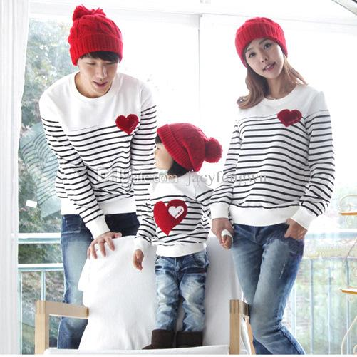spring autumn family matching mother daughter baby clothing girl tees boys T shirts children mother love casual cotton fashion QZZW005