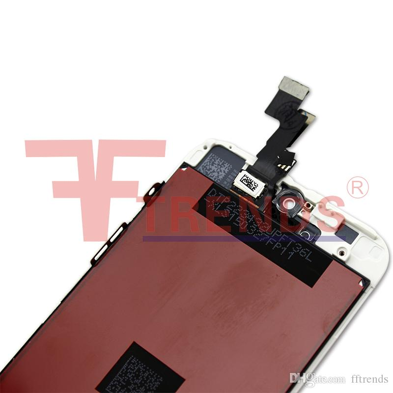 Black LCD Display+Touch Screen Digitizer Assembly Replacement for iPhone 5S 5C 5 SE OEM with Free Tempered Glass Screen