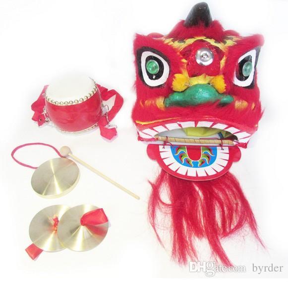 lion pur enfants manuel cymbales gongs tambour Chine arts populaires et l'artisanat 038 foshan