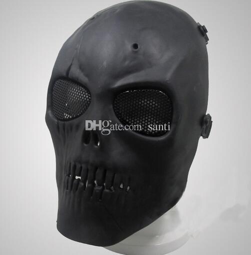 Nueva máscara de Airsoft del cráneo máscara protectora completa Parte festiva Militar máscaras del partido Suministros
