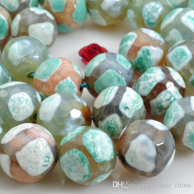 Pierres précieuses naturelles perles en vrac Accessoires de bijoux de bricolage 10mm 12mm perles d'agate facettée perles en cristal