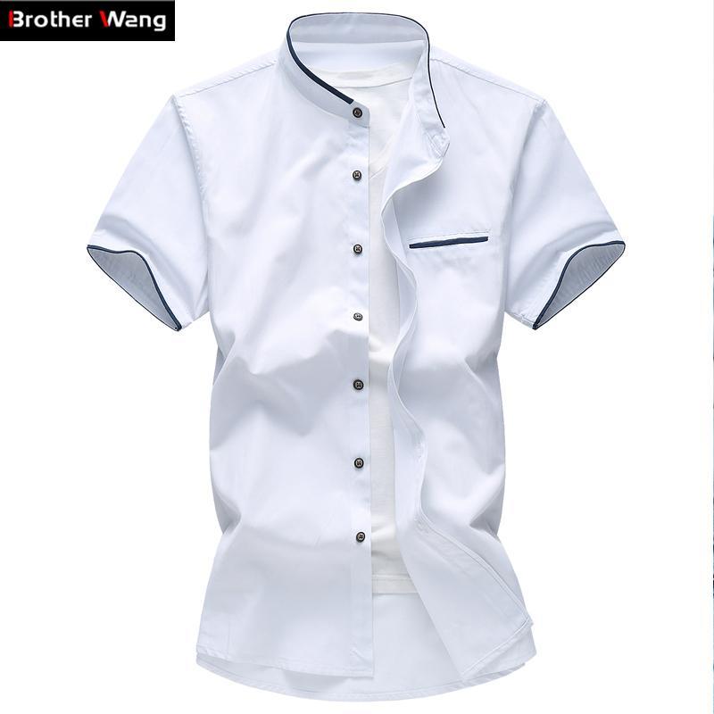 2019 Wholesale Mens Shirt Summer Big Size Oxford Textile Business