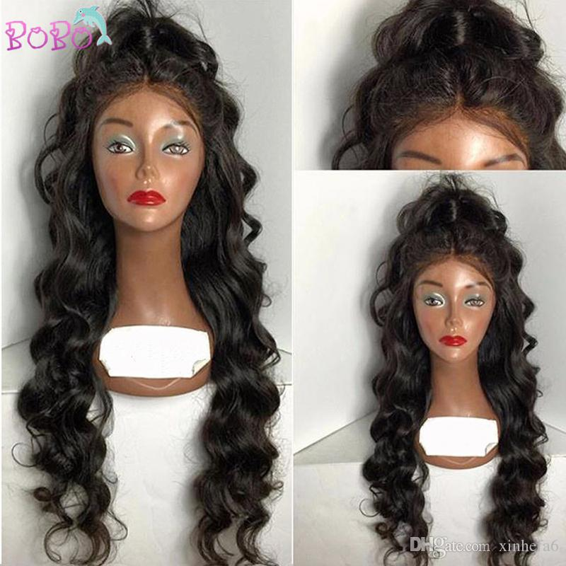 4x4 Silk Top Full Lace Wigs Body Wave Peruvian Virgin Hair Silk Top Lace Front Wig Glueless Full Wigs With Baby Hair