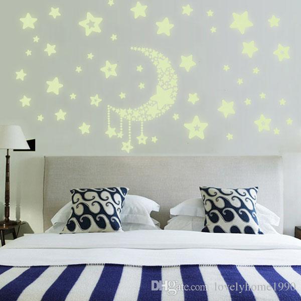 어두운 침실 복도 천장 벽 형광 스티커에 홈 데칼 광선