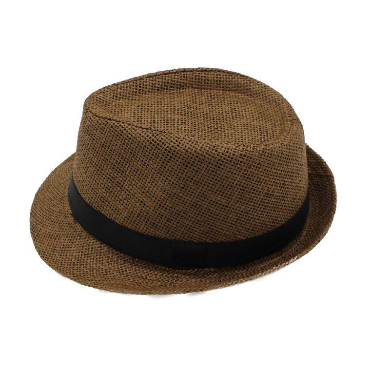 45ec3286c25b59 By EMS Men Women Chlidren Straw Hats Soft Fedora Panama Hats Outdoor ...