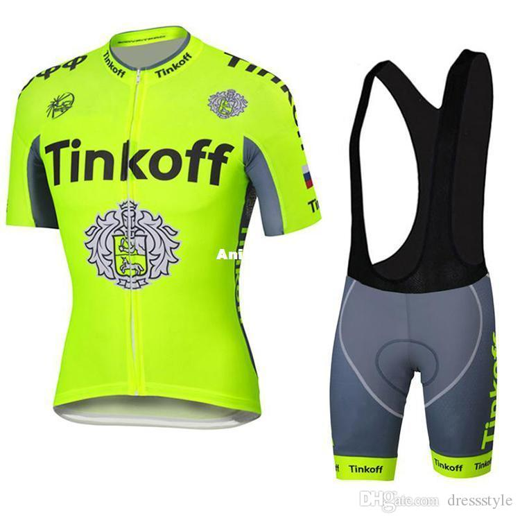 491d78e91 2016 Tour De France Cycling Jerseys Tinkoff Saxo Bank Bike Wear Size XS 4XL  Compressed Bicycle Clothing Yellow Fluo Color Black White Bib Cycling  Jackets ...