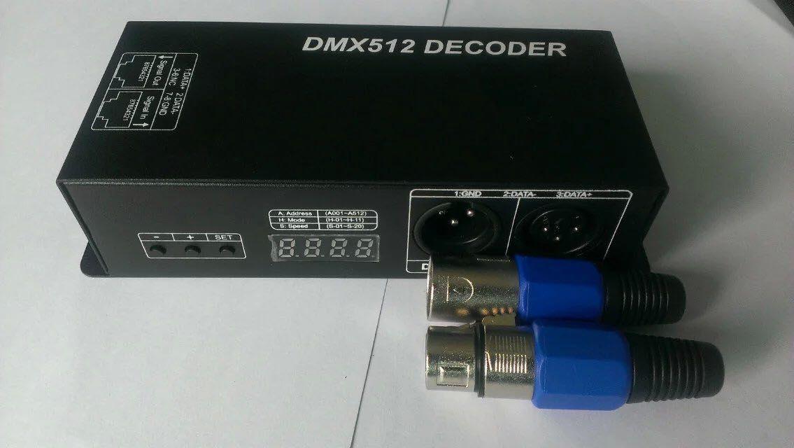 DC12-24V 4CH 24A Decodificador RGB LED DMX512 Controlador Para SMD 3528 5050 5730 RGBW LEVOU Tira Rígida módulo
