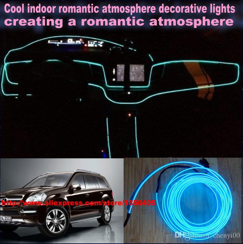 diy ambient lighting. For Benz Gl X164 / Diy 9 Meters 12v Car El Light, Led Interior Lights, Cold Lamp Decorative Ambient Lighting Lamp, Romantic Iights Emergency M