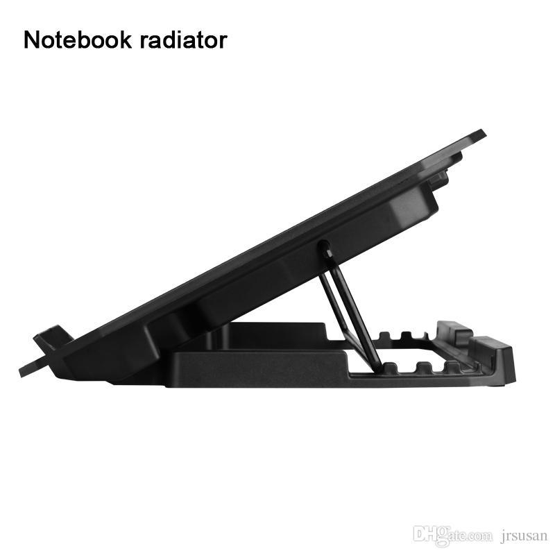 Laptop için Soğutma Pedleri USB Arabirim Dizüstü Soğutucu Standı Dizüstü Standı Dizüstü Soğutma Pedi Radyatör Iki büyük Hayranları Yüksek kalite