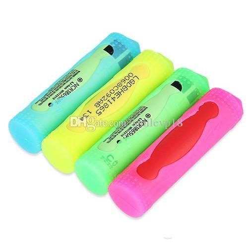 18650 силиконовый чехол крышка батареи защитный чехол кремния случаи сумка коробка для батареи Sony vtc3 vtc4 vtc5 LG и не4 Panason мод 18650 DHL бесплатно