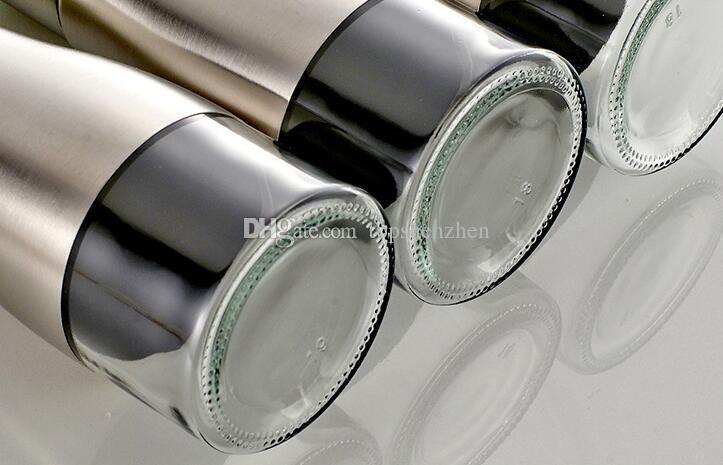 Fonksiyonel Zeytinyağı Şişesi Soya Sosu Sirke Baharat Depolama Can Cam Alt 304 Paslanmaz Çelik Gövde Mutfak Pişirme Araçları