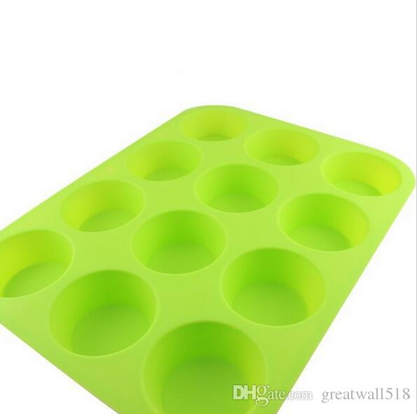12 Bakeware Lattices Silicone Cake Fondant Cupcake Decorating Cake Tools Forms For Cookies Accessories 29.5x22cm MT-008