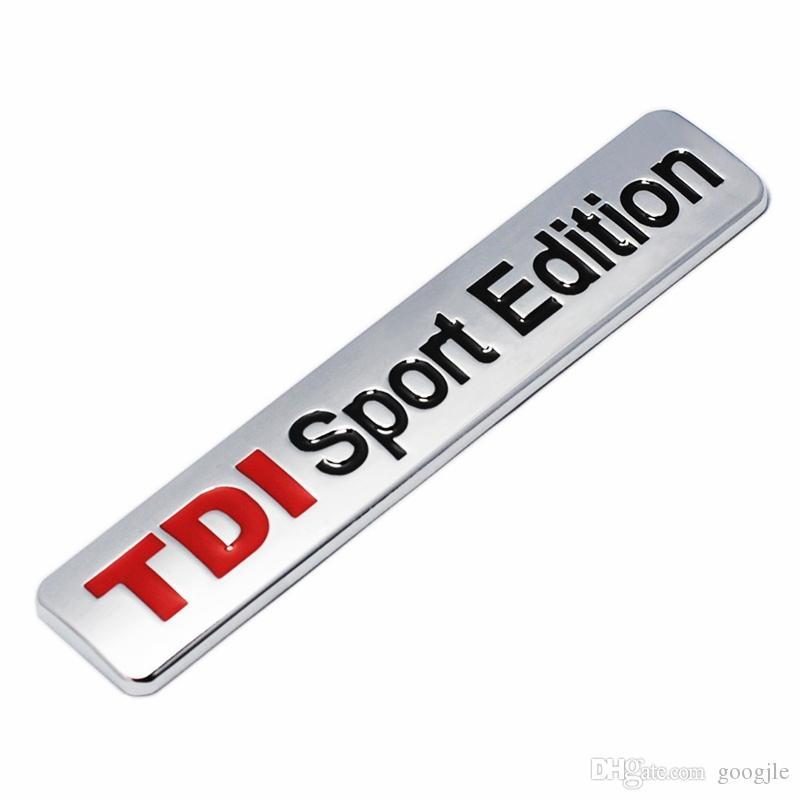 METAL ROUGE TDi Sport Edition Logo Turbo Voiture lettre autocollant emblème Chrome Badge