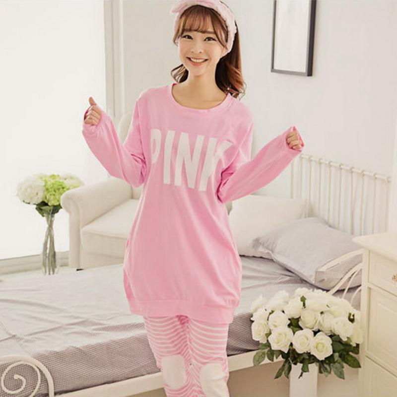 2019 Wholesale Hot Women Sexy Pyjamas Women S Pink Pajamas Sets Casual  Woman Pijamas Heart Night Wear Fashion Girls Loose Secret Top And Pants  From Honhui 085aa5431