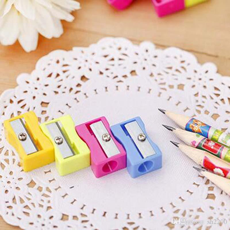 Retail Wholesale Pencil Sharpener Single Holes Pencil Sharpener School Office Supplies Birthday Present Gift Papelaria