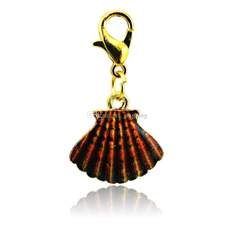 Moda Encantos Flutuantes Banhado A Ouro Multicolor Saia Fecho Da Lagosta Liga Encantos Meninas Jóias DIY Acessórios Ordem Da Mistura