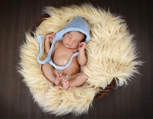 150 см*1 м новорожденных фото реквизит одеяла, мягкие плюшевые детские одеяло корзина писака, искусственный мех фотография фон