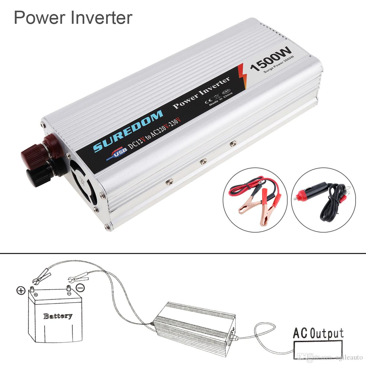 1500 W DC 12 V 24 V a CA 220 V 110 V USB Portable Power Charger Converter Auto Inverter prodotti elettronici Sugar Power 3000 W CEC_62M