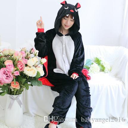 Unisex Yetişkin Cosplay Pijama Hayvan Yarasa Pijama Kigurumi Cadılar Bayramı Onesie Kostüm