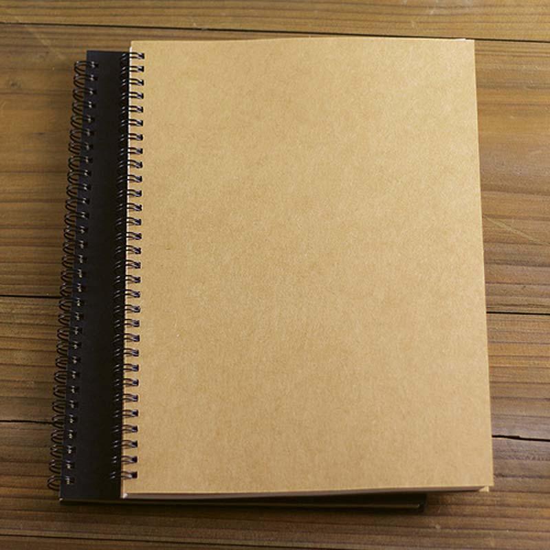 2017 caliente al por mayor-retro de alta calidad bobina de kraft cuaderno en blanco creativo graffiti diario sketchbook papelería escolar envío gratis
