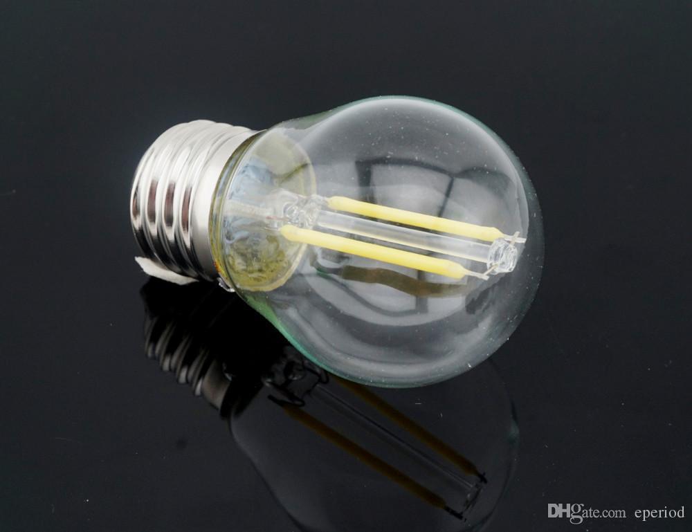 LED-Glühlampen E27 220V / 110V bombillas führten 2W 4W 6W G45 Glaslampenschirm-PFEILER Chip-Faden-Lampen-LED Kugellampe Hauptlampada