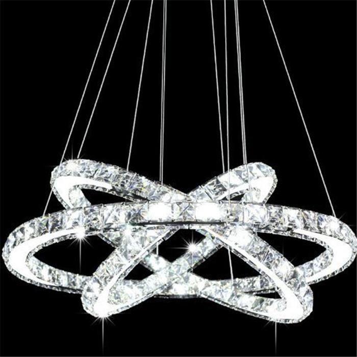 Modern LED Crystal Lamp Chandelier Light Led Ring Diamond K9 Pendant Lamp Lighting For Living Room Bedroom Dining Room Chandeliers CE UL