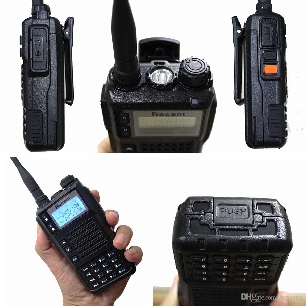 UHF VHF professional walkie talkie RS689 with 3 frequency bands 10W / 5W / 1W power selective 2 way radios with 200 channels
