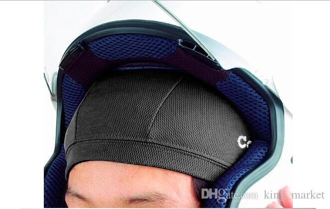 material sweat skull cap motorcycle baseball hat helmet style under