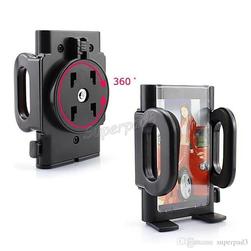 Carro Windshield vidro clipe suporte suporte para telefone celular GPS PDA MP4 prático 360 graus Suporte de giro suporte de carro ajustável