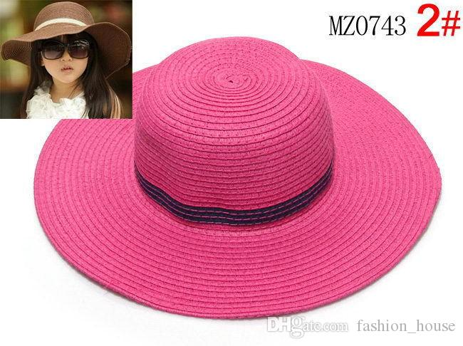 Children girl hats beach hat baby girls sun hat caps